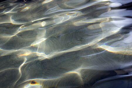 Photo pour swimming pool wave pattern background  - image libre de droit