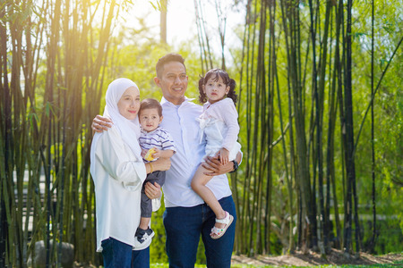 Photo for Happy family, spending time together, playing at park. Parenting, happy family concept. Selective focus - Royalty Free Image