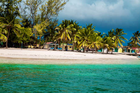 Photo for Dominican Republic, Saona Island - Mano Juan Beach. Fishermen's village. Luxury travel. Vacation. Cruise. Paradise. Amazing Caribbean landscape. - Royalty Free Image