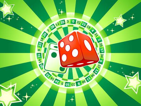 Casino dices over classic table games interior