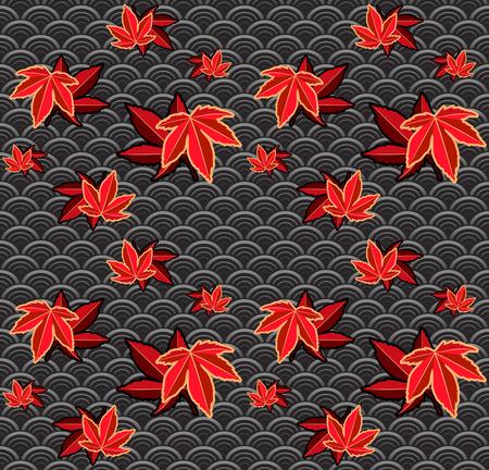 Seamless momiji (maple) japanese pattern