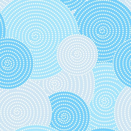 Japanese seamless circle dots pattern in blue