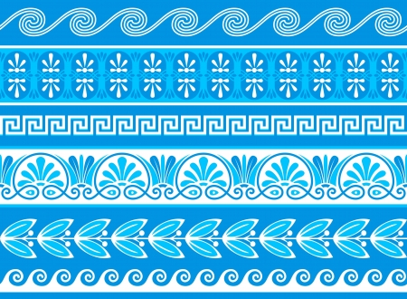 Decorative greek borders done as samples