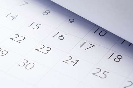 Photo for Close-up photo of the calendar - Royalty Free Image
