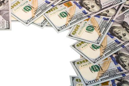 Photo pour Background with money american hundred dollar bills - image libre de droit