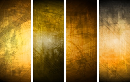 Vector textural banners in grunge style. Eps 10