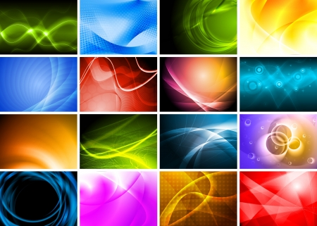 Collection of abstract multicolored backgrounds