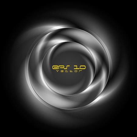 Illustration pour Stylish metallic logo. Vector background eps 10 - image libre de droit