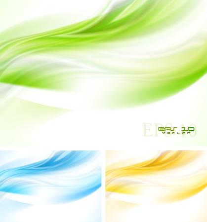 Illustration pour Bright wave backgrounds. - image libre de droit