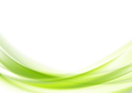 Ilustración de Bright green vector waves abstract background - Imagen libre de derechos
