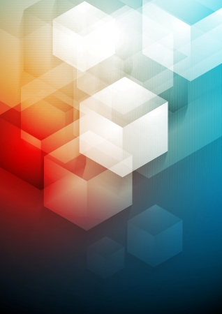 Vector tech abstract background