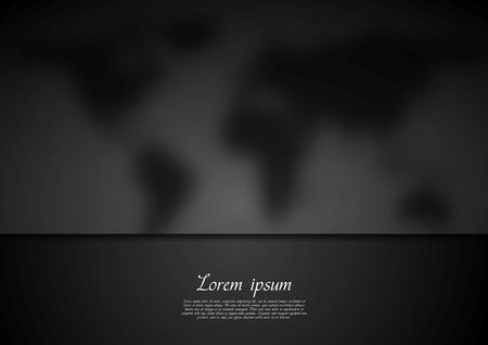 Black blurred map vector design