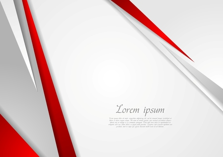 Grey and red corporate technology design. Vector background