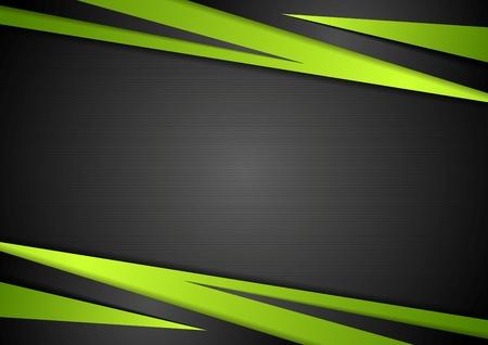 Illustration pour Black and green abstract design. Vector background - image libre de droit