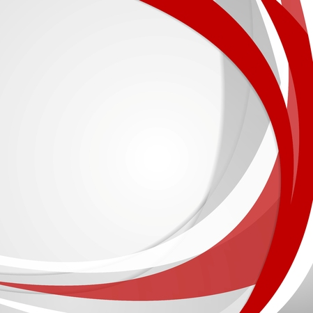 Abstract red wavy corporate background. Vector design