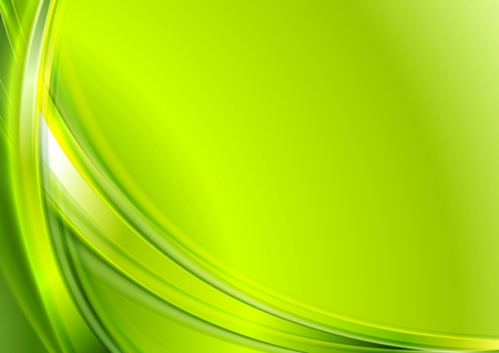 Bright green abstract wavy background.