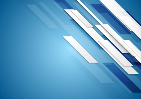 Photo pour Blue shiny hi-tech motion background. Vector design - image libre de droit