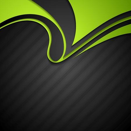 Foto de Vibrant corporate abstract background with wavy pattern. Vector design - Imagen libre de derechos