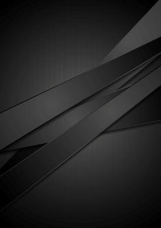 Illustration pour Black stripes tech background.  - image libre de droit