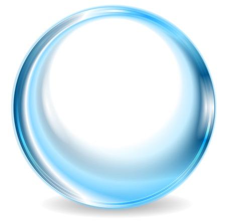 Illustration pour Blue abstract circle shape design. Vector background - image libre de droit