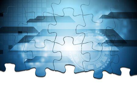 Foto de Corporate technology background. Puzzle vector design - Imagen libre de derechos