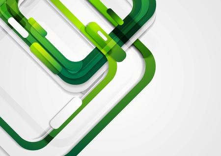 Illustration pour Abstract green geometric corporate background. Vector design - image libre de droit