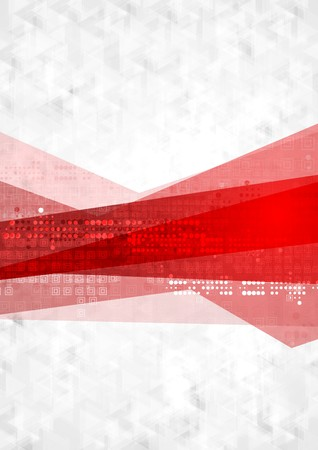 Abstract red grey technology background. Vector design