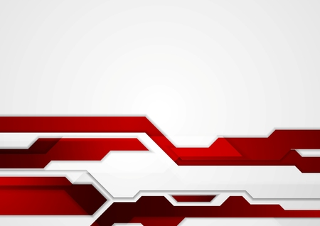 Ilustración de Abstract red geometric tech corporate design. Vector background - Imagen libre de derechos