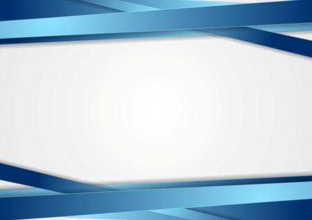 Photo pour Tech abstract background with blue stripes. Vector design - image libre de droit