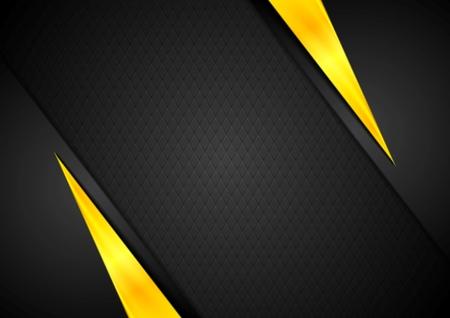 Ilustración de Dark contrast black yellow background. Vector design - Imagen libre de derechos