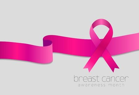 Breast cancer awareness month. Pink ribbon design. Vector background