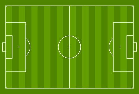 Green vector soccer field background. Sport graphic design