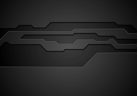 Ilustración de Abstract black technology corporate design. Vector background - Imagen libre de derechos