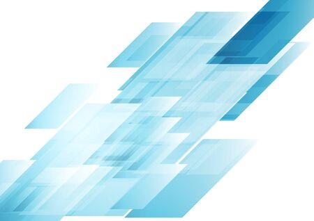 Illustration pour Hi-tech blue shapes abstract background. - image libre de droit