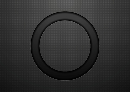 Illustration pour Abstract black circle background. Vector template design - image libre de droit