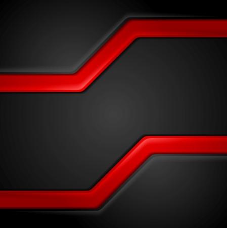 Foto de Abstract contrast black red tech background. Vector corporate graphic design - Imagen libre de derechos