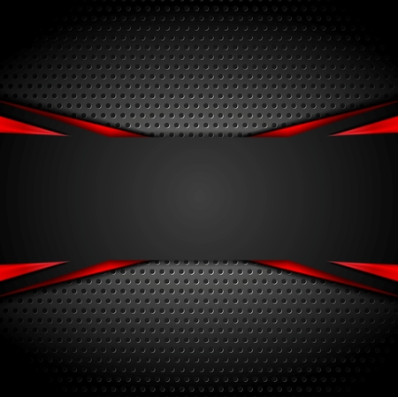 Illustration for Abstract dark corporate red black background. Vector illustration - Royalty Free Image