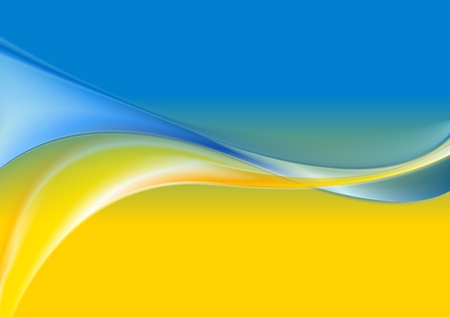 Wavy background Ukrainian flag colors. Vector design