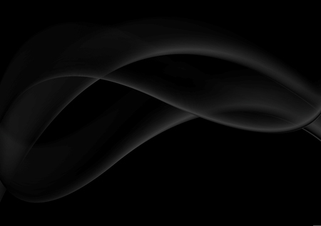 Illustration pour Abstract smooth black wavy abstraction vector background - image libre de droit