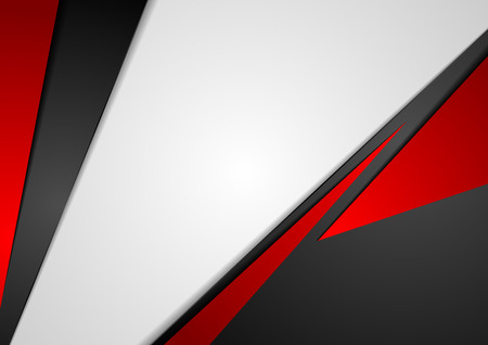 Ilustración de Corporate concept red black grey contrast background. Vector abstract graphic design - Imagen libre de derechos