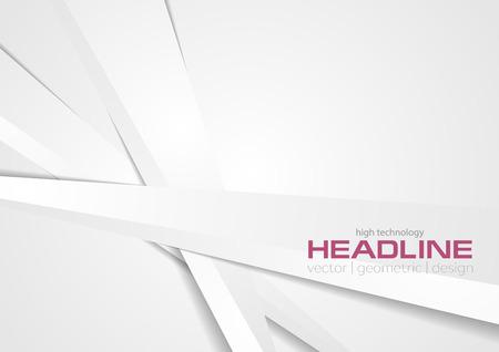 Illustration pour Abstract light grey tech stripes background. Corporate vector design - image libre de droit