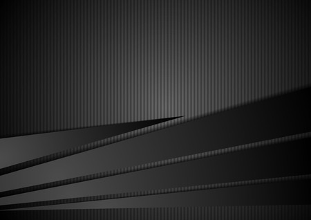 Ilustración de Abstract black striped corporate background. Vector design illustration - Imagen libre de derechos