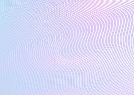 Ilustración de Minimal pastel trendy refracted curved waves abstract background. Vector design - Imagen libre de derechos