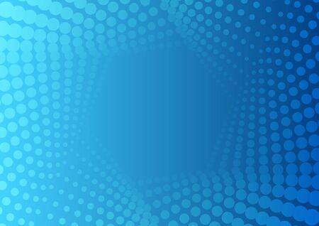 Illustration pour Abstract bright blue geometric halftone hexagonal pattern. Vector tech modern background - image libre de droit