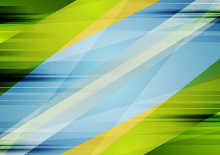 Illustration for Colorful blue and green contrast abstract background. Vector grunge illustration - Royalty Free Image
