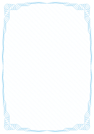 Blue frame border with security protective grid.