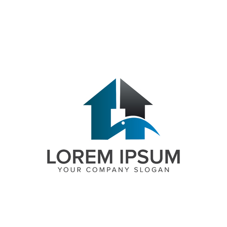 real estate Construction logo design concept template