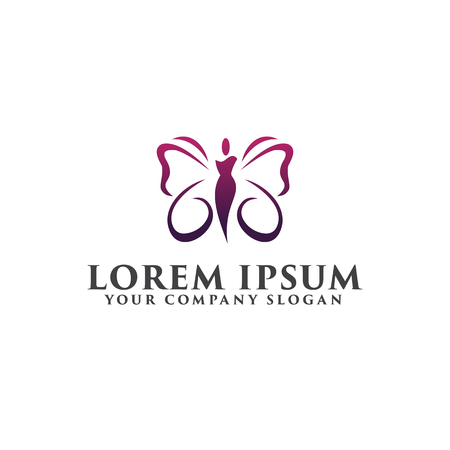 Illustration for beauty spa people Logos. Cosmetics logo design concept template - Royalty Free Image