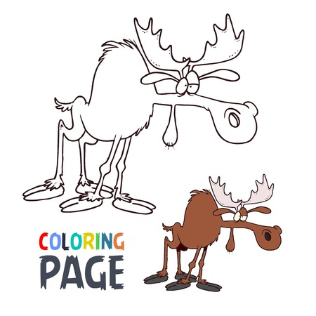 Picture Of Moose - Coloring Home | 450x450