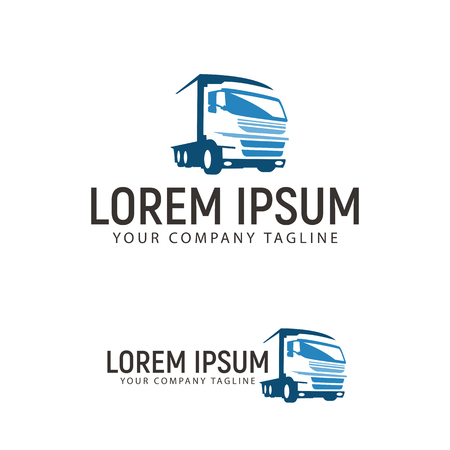 Photo for trucking transportation logo design concept template - Royalty Free Image